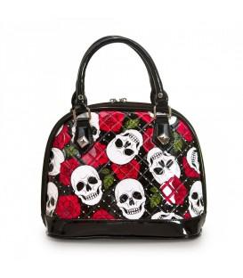 Loungefly Tasche White Skull Roses