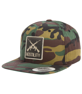 Hostility Snapback Cap Cross Guns