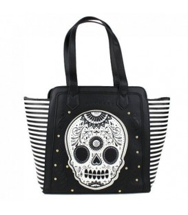 Loungefly Handtasche Skull Stripes