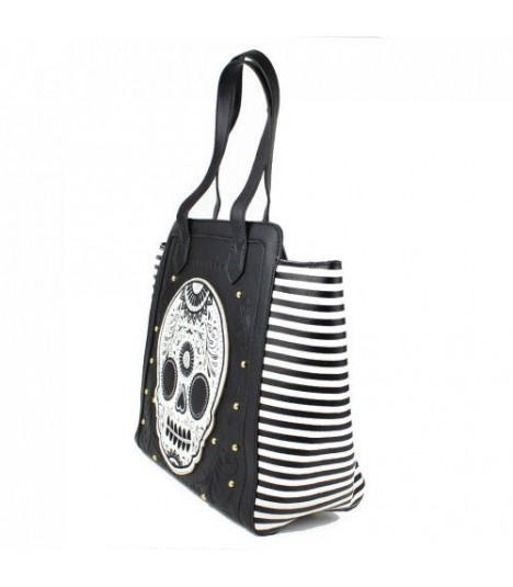 Loungefly Handtasche Skull Stripes