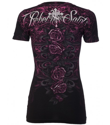 Rebel Saints by Affliction Shirt Cowgirl