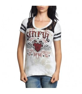 Sinful by Affliction Shirt Wings