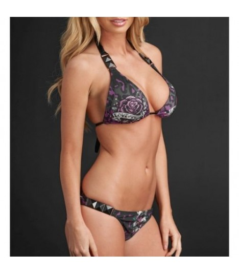 Sinful by Affliction Bikini Flowers