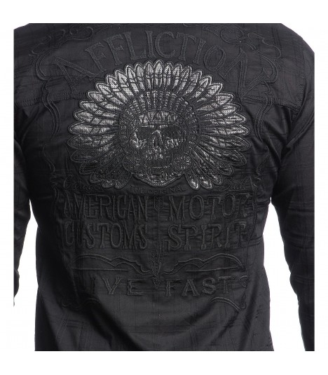 Affliction Hemd Blackout