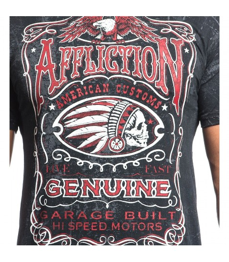 Affliction Shirt Genuine Whiskey