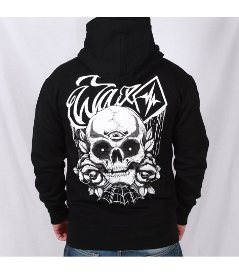 Wax Hoody Third Eye Skull