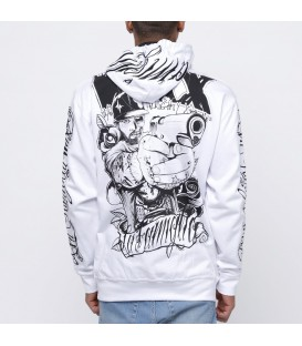 Wax Zip Hoody Reloaded White