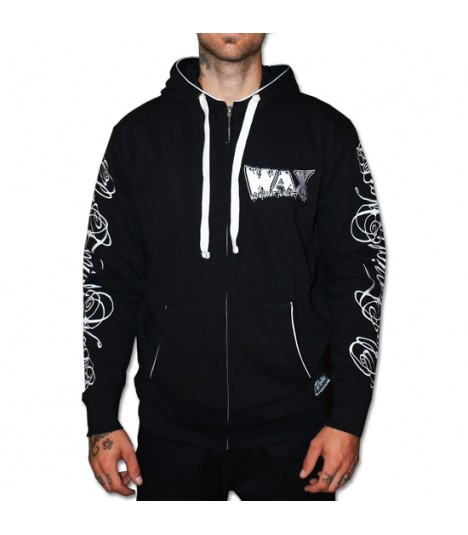 Wax Zip Hoody Reloaded Black
