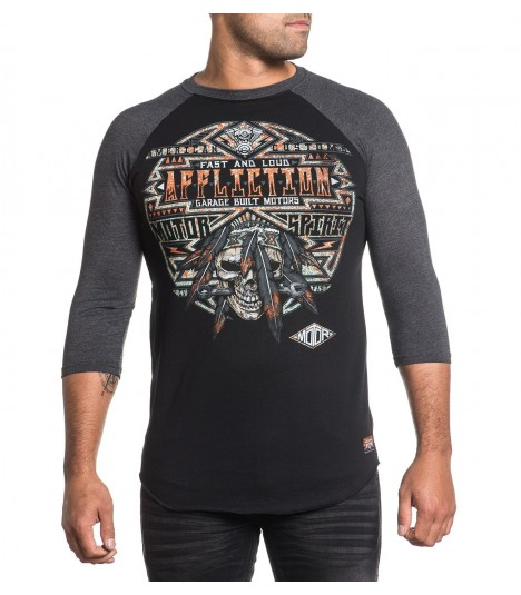 Affliction Raglan Buffalo Fever