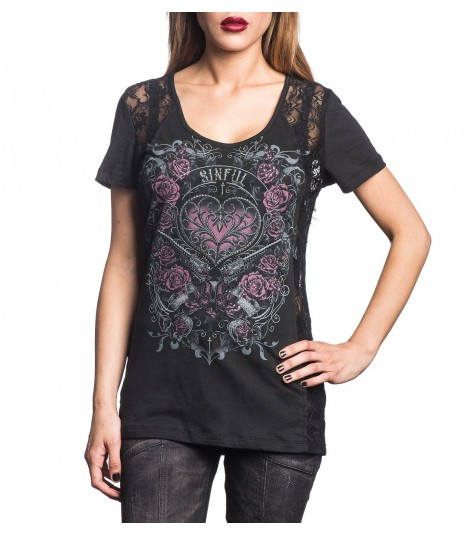 Sinful by Affliction Shirt Iron Pistol