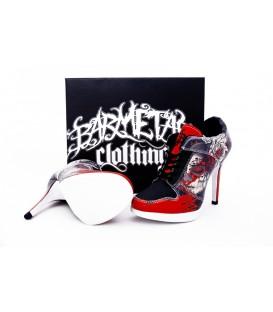 Barmetal Sneaker Heels Polka Trash