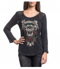 Affliction Raglan Screamin Roses