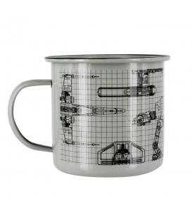 Star Wars Metall Weissblech Tasse
