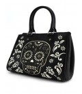 Loungefly Tasche Black and White Sugar Skull