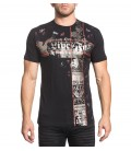Affliction Shirt Stacked Metal