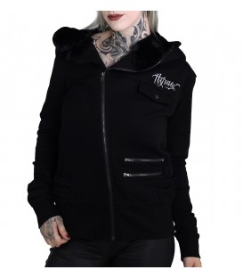 Hyraw Zip Hoody Back 2 Black