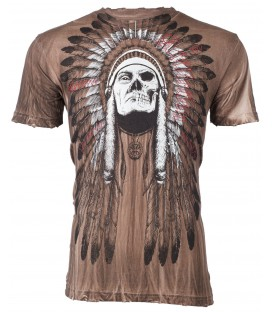 Affliction Shirt Indian Skull