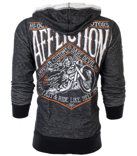 Affliction 2 in 1 Reversible Side Car Hoody