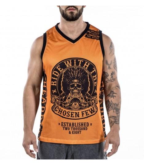 Headrush Basketball Tank The Walk of Punishment Orange