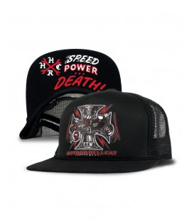 Hotrod Hellcat Trucker Cap Iron Cross