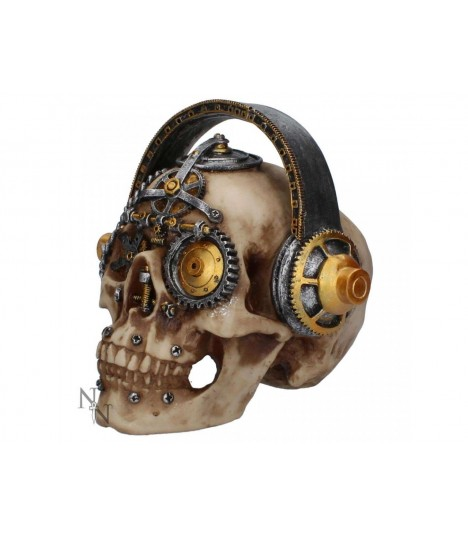 Nemesis Now Figur Metalhead Skull Steampunk