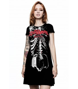 Killstar Rob Zombie Foxy Bones Skater Dress