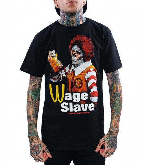 Skygraphx Shirt Wage Slave