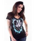 Lethal Angel Shirt Biker Cat