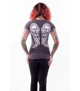 Lethal Angel Shirt Wing Skull