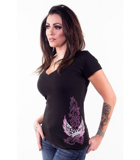 Lethal Angel Shirt Pink Race Heart
