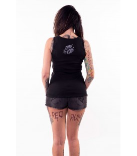 Lethal Angel Tank Middle Finger Skull