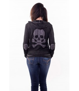 Lethal Angel Hoody Grunge Skull Patch