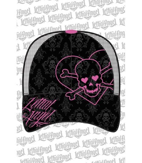 Lethal Angel Damen Snapback Cap Heart Skull