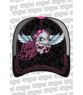 Lethal Angel Damen Snapback Cap Girl Skull