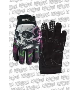 Lethal Angel Handschuhe Floral Skull