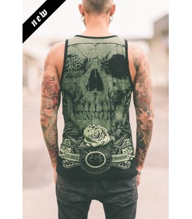 Cuts and Stitches Tank Green Skull