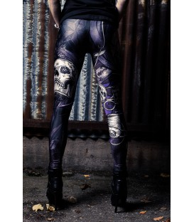 Cuts and Stitches Leggings Skull