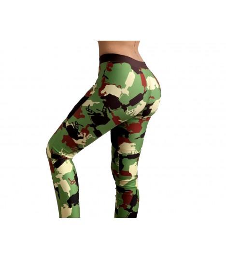 4AmazINK Leggings Camo Green