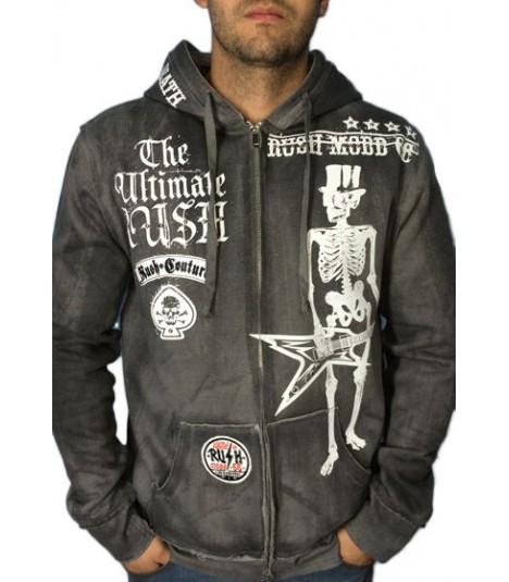 Rush Couture Zip Hoody Rock Till Death