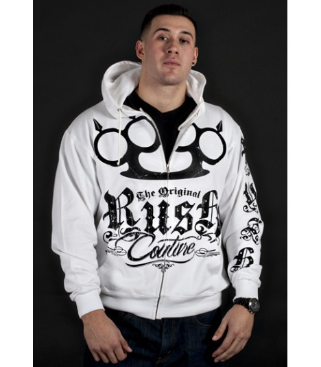 Rush Couture Zip Hoody White