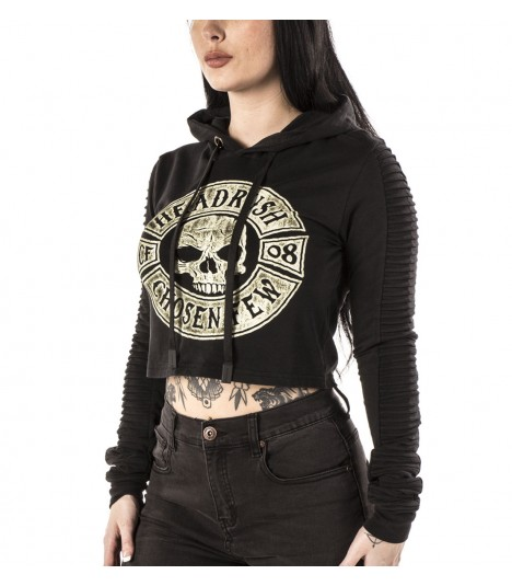 Headrush Crop Top The Vicious Cycle Washed