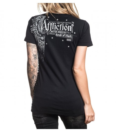Affliction Shirt Black Souls