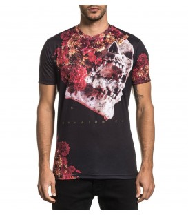 Affliction Shirt Skeleton Flower