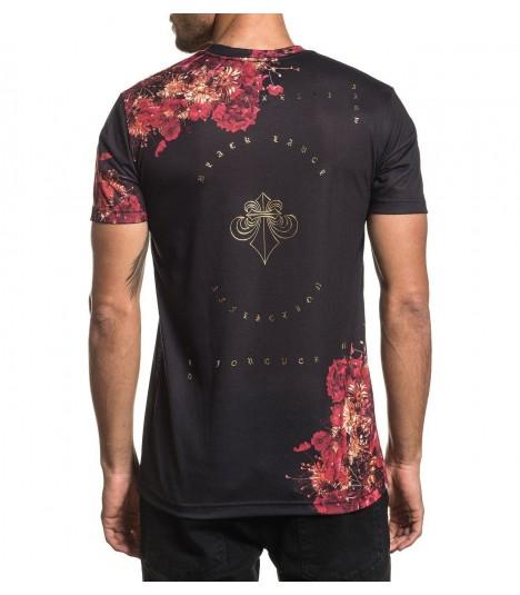 Affliction Shirt Skeleton Flower
