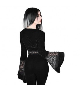 Killstar Samt Crop Top Naomi