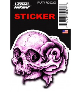 Lethal Angel Sticker Floral Skull