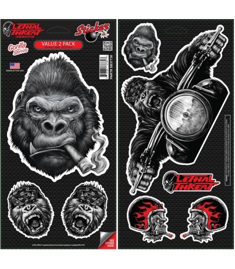 Lethal Angel Sticker Set Gorilla 8 Sticker