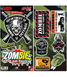 Lethal Angel Sticker Set Zombie 9 Sticker
