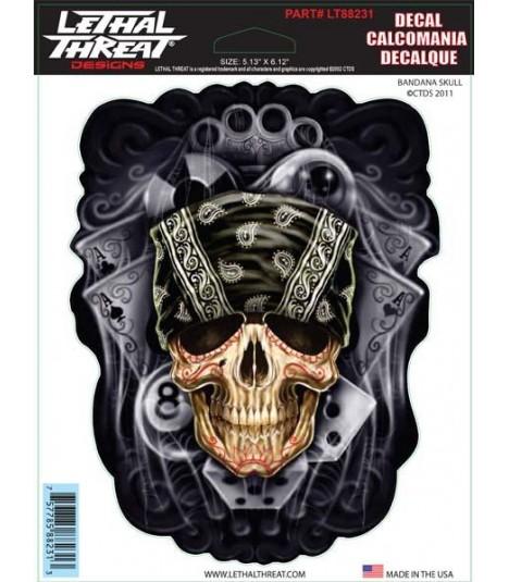 Lethal Angel Sticker Bandana Skull