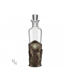 Nemesis Now Steampunk Flaschenhalter + Glasflasche